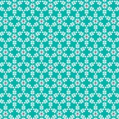 white snowflake pattern on blue
