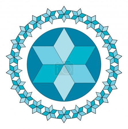 Blue Jewish star.