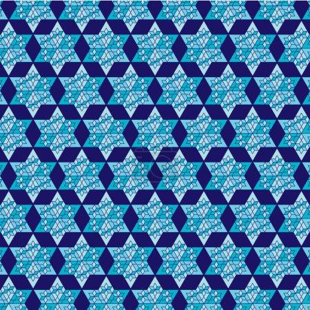 Blue jewish star background