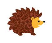 Little hedgehog on white background illustration