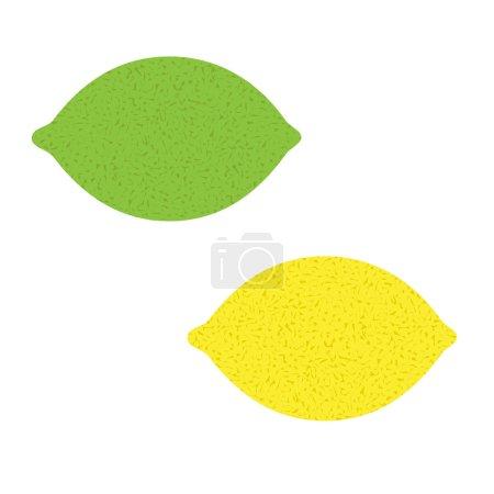 Lemons citrus fruit isolated icon