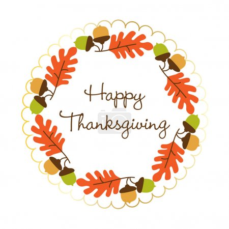 Illustration for Thanksgiving Day card vector illustration - Royalty Free Image