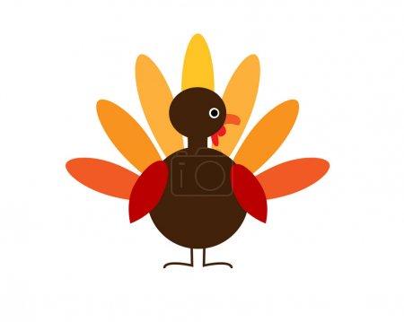 Illustration pour Dinde de Thanksgiving illustration vectorielle de conception - image libre de droit