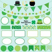 St patricks day bunting clipart vector illustration