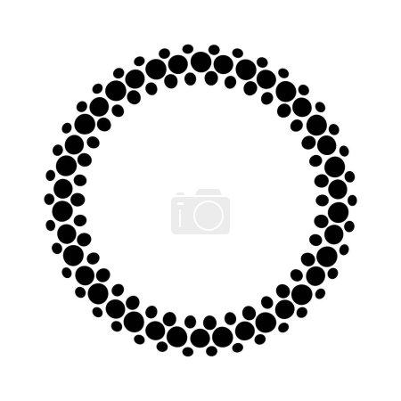 Illustration for Frame of black dots on white background - Royalty Free Image