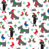 pattern of christmas animals
