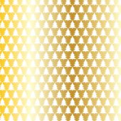 Abstract christmas trees on golden bacground vector illustration