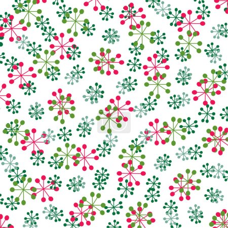 Pattern of color snowflakes