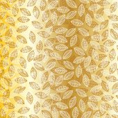 golden leaves pattern