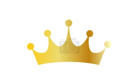 metallic gold crown
