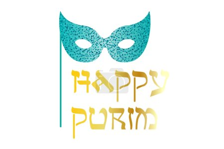 happy purim with mask