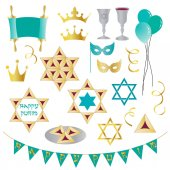 Clip art of happy purim pattern