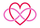 Heart and pink infinity signs