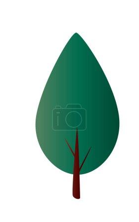 gradient fir tree