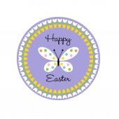 Vector illustration of Seamless pattern of butterfly Happy easter