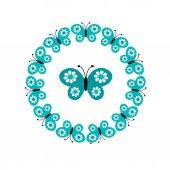 Bezešvé pattern motýlů
