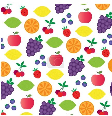 Cartoon fruit pattern