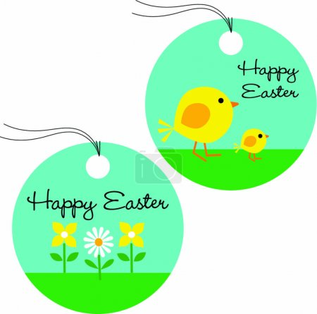 gift tags with cute Easter chicks
