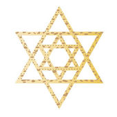 Passover matzoh concentric jewish star isolated on white background