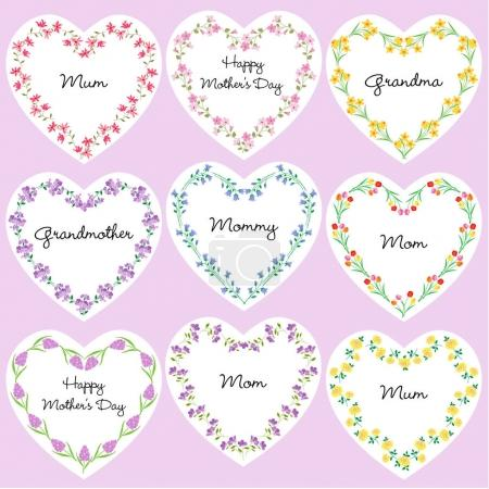 Mothers day heart frames