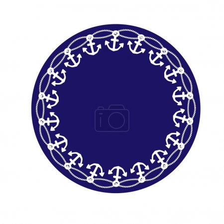 nautical ship wheel circle frame