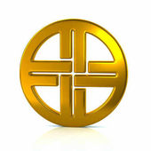 golden shield knot symbol