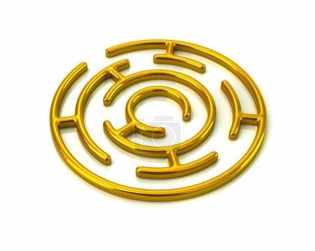 Golden round maze