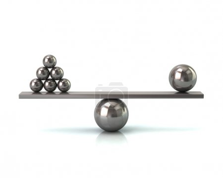 Scales with silver balls
