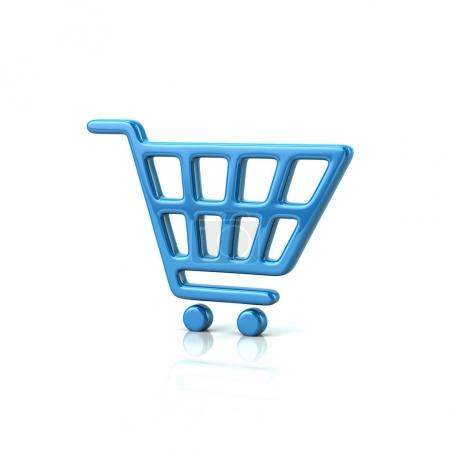 Blue shopping cart icon