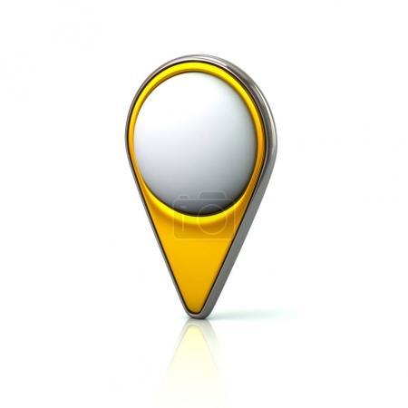 Golden map pin