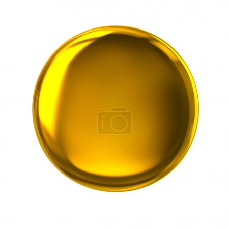 Golden button or badge