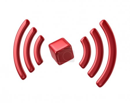 Red Wi-Fi network icon