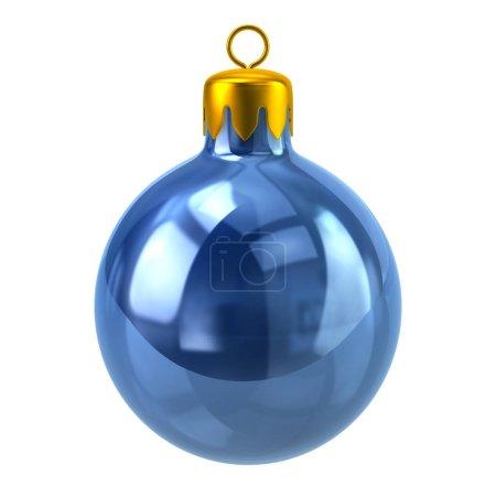 Blue Christmas ball 3d illustration