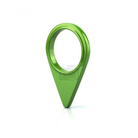 Round green map pointer