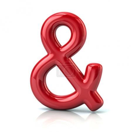 Photo pour Illustration 3D du symbole rouge de l'amphibie isolé sur fond blanc isolé, vecteur, illustration - image libre de droit