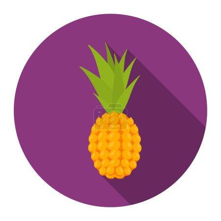 Pineapple icon cartoon. Singe fruit icon.