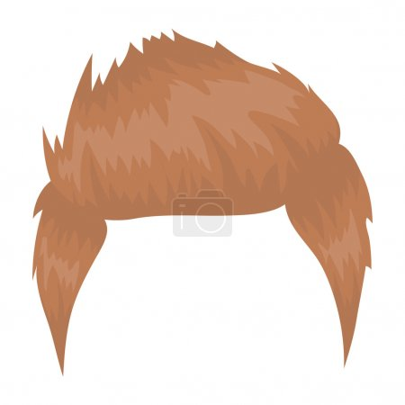 Mans hairstyle icon in cartoon style isolated on white background. Beard symbol stock vector illustration.