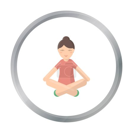 Yoga icon of vector illustration for web and mobil...