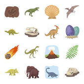 Dinosaurs and prehistoric set icons in cartoon style Big collection of dinosaurs and prehistoric vector symbol stock illustration