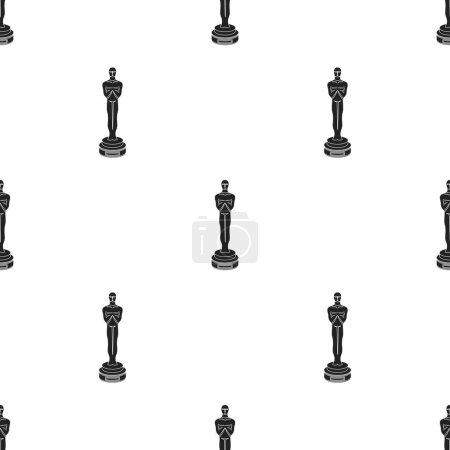 Academy award icon in black style isolated on white background. Films and cinema pattern stock vector illustration.