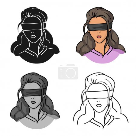 Geisel-Ikone im Cartoon-Stil isoliert auf weißem Hintergrund. Verbrechen Symbol Aktienvektor Illustration.