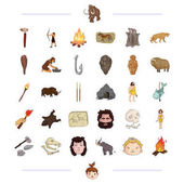 neolithic prehistoric hunting and other web icon in black style mining drawing weapons icons in set collection