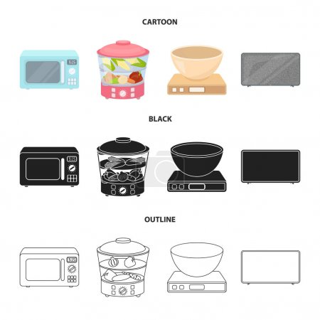 Steamer, microwave oven, scales, lcd tv.Household ...