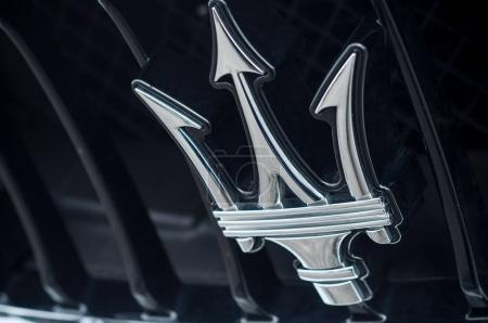 Maserati logo on car front