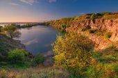 A beautiful magical lake on a summer morning at dawn V