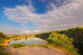 A beautiful magical lake on a summer morning at dawn VIII