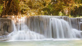 Natural stream waterfall in north of Thailand, natural landscape background