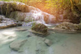 Tropical deep forest waterfall