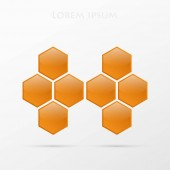 Logo design based on hexagons