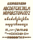 Three-dimensional font with a full set of elements